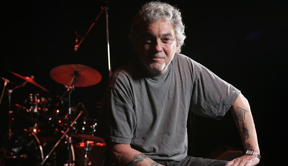 LONDON - 5th DECEMBER: American drummer Steve Gadd posed at Queen Elizabeth Hall in London on 5th December 2008. (Photo by Richard Ecclestone/Redferns)